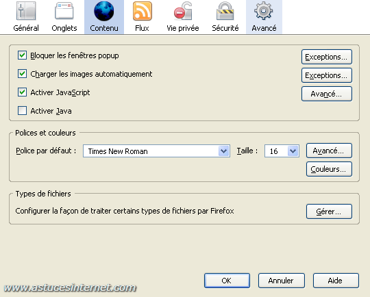 Param trage et utilisation de firefox 2 0 tutorial for Bloquer fenetre pop up firefox