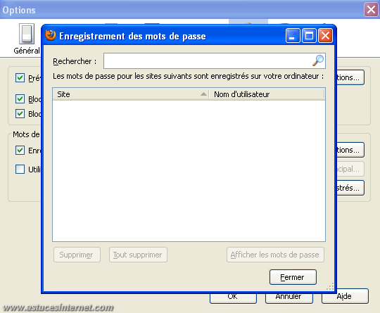 Options de Firefox