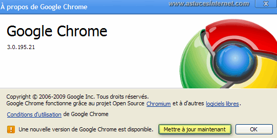 A propos de Google Chrome