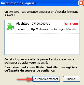 Installation de l'extension FlashGot