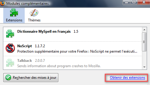 modules firefox en français