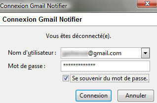 Identification Gmail Notifier