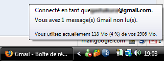 Information Gmail Notifier