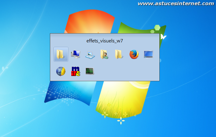 Composition du bureau syst me d 39 exploitation windows 7 for Bureau windows 7