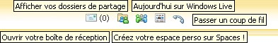 les outils  windows live messenger