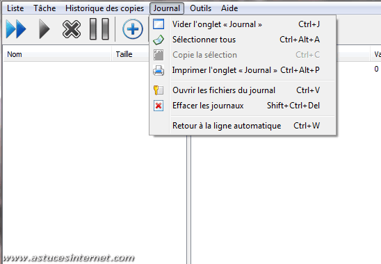 Cobian Backup - Menu