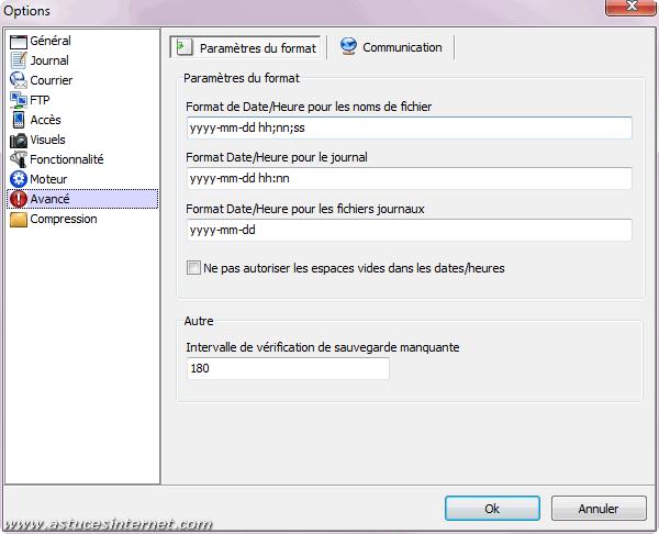 Cobian Backup - Options