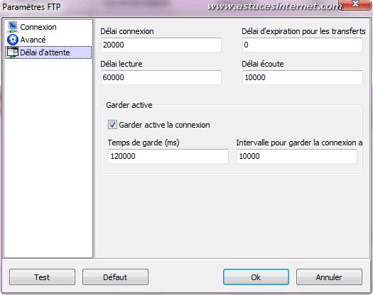 Création d'une sauvegarde par FTP