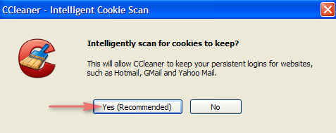 CCleaner Paramétrage