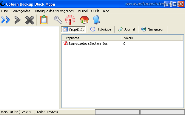 Interface De cobian Backup
