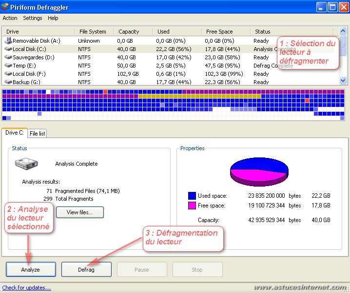Defragmentation de fichiers