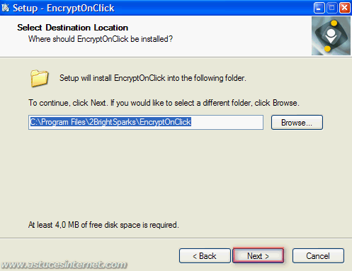 EncryptOnClick : Installation