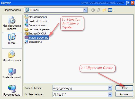 EncryptOnClick : Utilisation