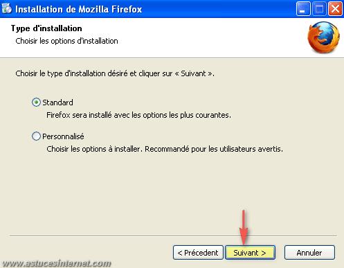 Installation du navigateur