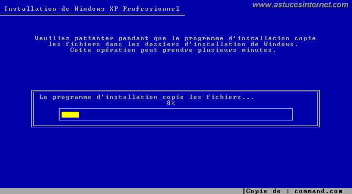 Installation de Windows