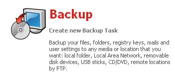 GFI Backup 2009 : Backup