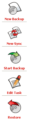 GFI Backup 2009 : My Tasks