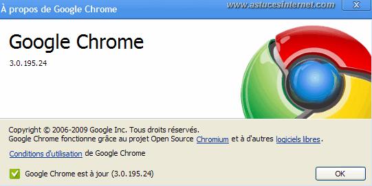A propos de Google Chrome