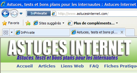 Indicateur InPrivate