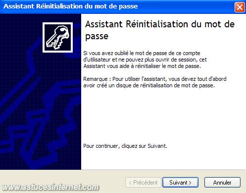 Assistant réinitialisation