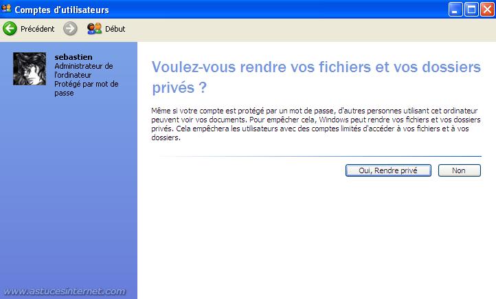 Rendre les fichiers privés