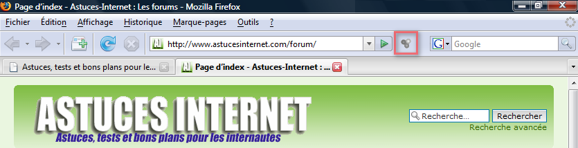 aperçu de l'interface