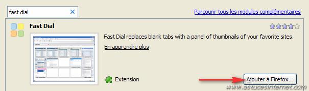 Ajouter l'extension