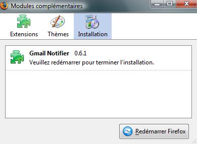 Redémarrer Firefox