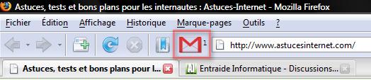 Raccourci vers Gmail Notifier