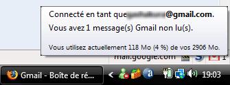 Information Gmail Notifier