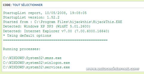 Fichier log dans le forum