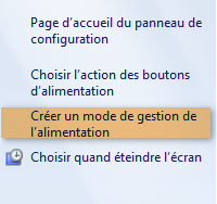 Options d'alimentation