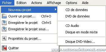 Création d'un disque de données