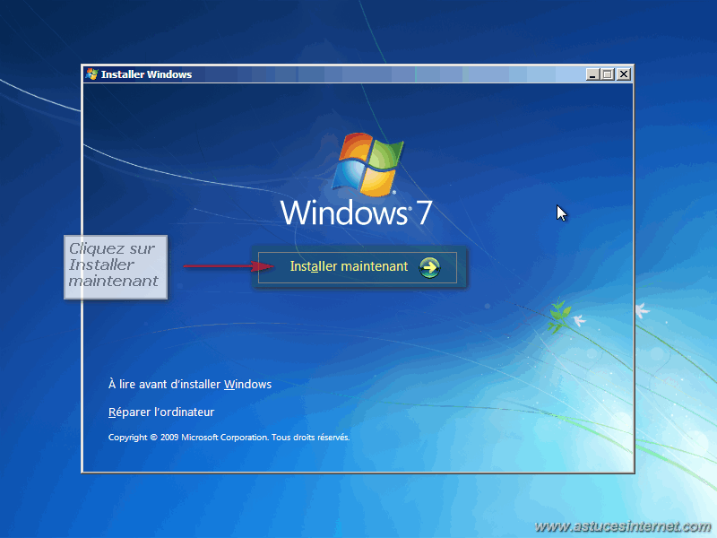 Installation Windows 7