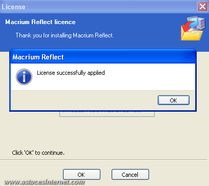 Macrium Reflect : Installation