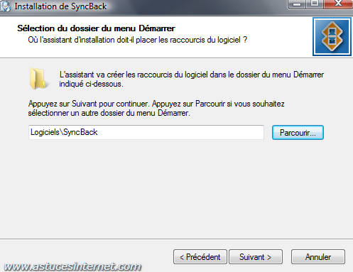 Installation de SyncBack - Etape 4
