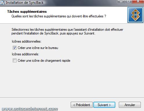 Installation de SyncBack - Etape 5