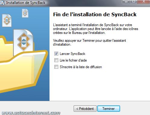 Installation de SyncBack - Etape 8