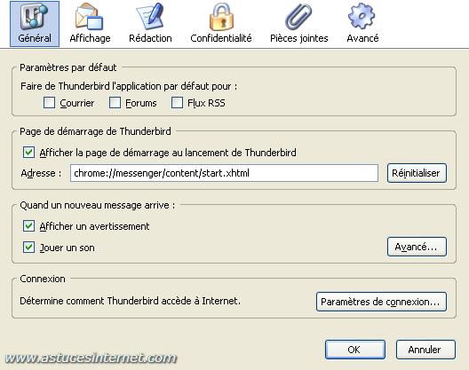 Paramétrage de Thunderbird   Le menu Options - Tutorial - Articles ... adb24cdd46a
