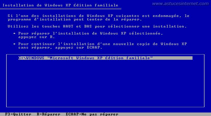 Réparer Windows XP