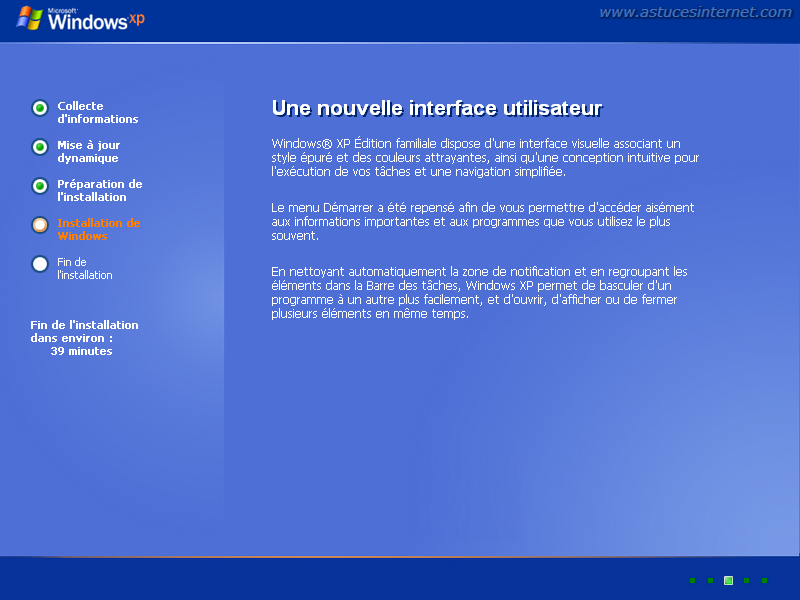 Installation de Windows XP