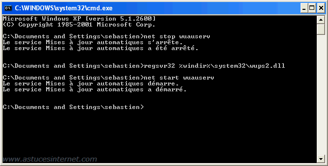 Réparer Windows Update